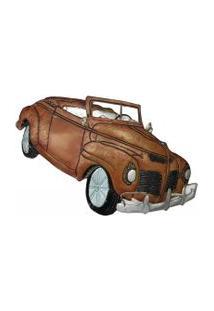 Escultura De Parede Para Sala Metal Carro 46X83Cm Vermelho