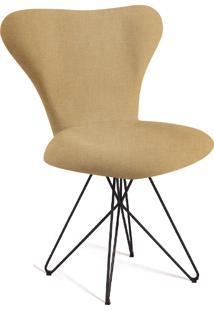 Cadeira Jaçobsen Butterfly Aço T1132 Linho Daf Amarelo