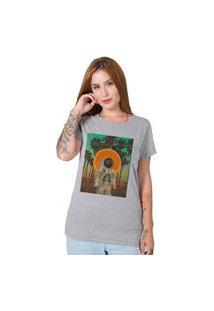 Camiseta Verão No Espaço Cinza Stoned