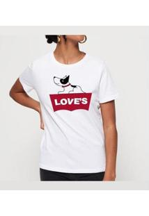 Camiseta Love´S Buddies Feminina - Feminino-Branco
