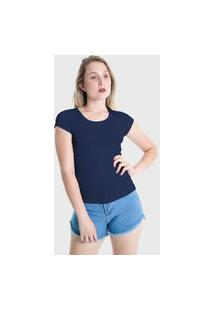 Camiseta T-Shirt Básica Lynnce Azul Marinho