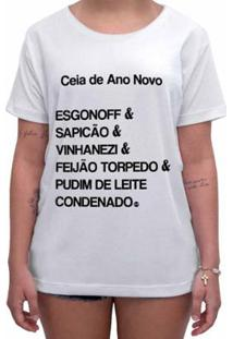 Camiseta Impermanence Estampada Ceia Ano Novo Feminina - Feminino