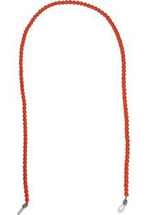 Corrente Bag Dreams Para Óculos Em Missangas Coral