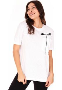 Camisetas Side Walk Camiseta Libélula Branco