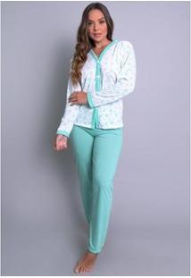Pijama Mvb Modas Aberto - Feminino-Verde