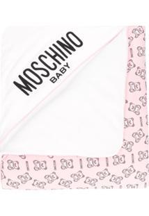 Moschino Kids Cobertor Com Estampa - Rosa