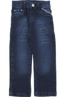 Calça Jeans Malwee Kids Menino Lisa Azul-Marinho