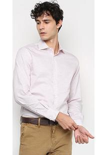 Camisa Xadrex Vr Manga Longa Masculina - Masculino-Vermelho