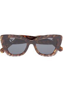 Fendi Eyewear Óculos De Sol  Havana  - Marrom 45f985512b