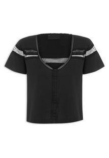 Camiseta Feminina Vanne - Preto