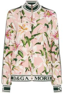 Dolce & Gabbana Cady Lily-Print Track Jacket - Estampado
