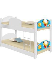 Beliche Infantil Foguete Espacial Com 2 Colchãµes Casah - Azul - Dafiti