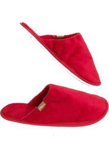 Pantufa Moleca De Lã Feminino - Feminino-Vermelho