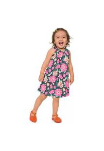Vestido Infantil Menina Kyly Cinza