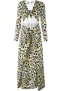 Moschino Vestido Maxi Estampado - Preto