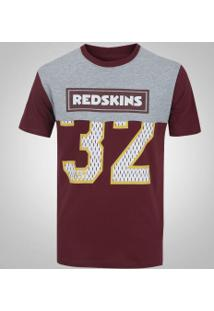 Camiseta New Era Washington Redskins Crop Numbers - Masculina -  Cinza Vermelho 86d1ae157fed2
