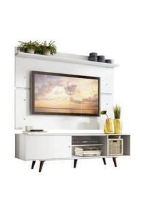 Rack Madesa Dubai E Painel Para Tv Até 65 Polegadas Com Pés Branco/Rustic Branco