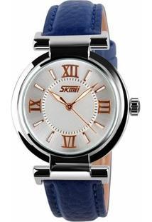 Relógio Skmei Analógico 9075 - Feminino-Azul
