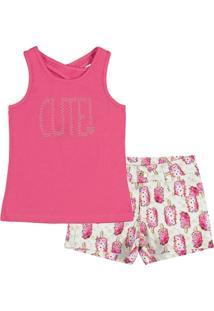 Conjunto Infantil Pulla Bulla Cotton Feminino - Feminino