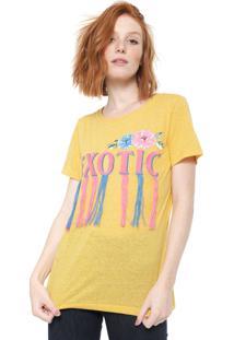 Camiseta Triton Bordada Amarela