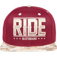 19915801e96aa Boné Ride Skateboard Camouflage Vinho