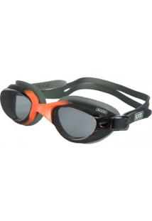 Óculos De Natação Speedo Slide - Adulto - Preto/Laranja