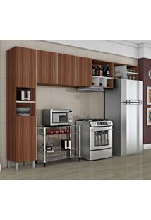 Cozinha Compacta 3 Peças Com Adega Nice Iii Siena Móveis Macadâmia/Branco