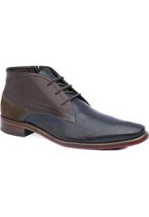 Sapato Social Caravaggio Masculino - Masculino-Marinho
