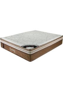 Colchão Casal 188X128X36 Latex Soft Gel Pillow Top -Prorelax - Bege / Marrom