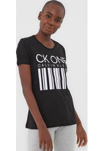 Camiseta Calvin Klein Underwear Lettering Preta