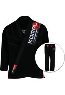 Kimono Jiu-Jitsu Koral Mkm Competition - Adulto - Preto