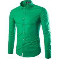 b38eab9f57 Camisa Social Masculina Slim Manga Longa - Verde
