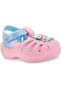 26033968434d6 Sandalia Fem Infantil Grendene 21880 24652 Hello Kitty Summer Rosa Azul