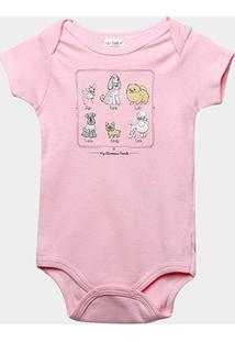 Body Infantil Up Baby Estampado - Feminino-Rosa