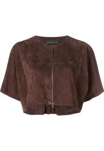 Fabiana Filippi Short Sleeves Bolero - Marrom