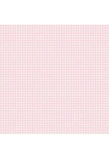 Papel De Parede Coleção Infantário Rosa Quadriculado 1741 Bobinex