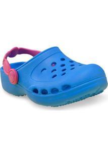 Babuche Fem Infantil Sunway 101C10 Azul/Pink