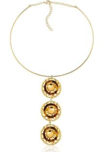 Colar Le Diamond Esferas Aramadas Dourado
