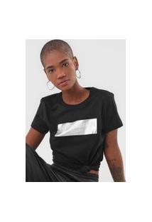 Camiseta Fiveblu Foil Off Line Preta