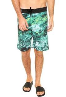 Boardshort Hurley Água Water Falow Masculino - Masculino-Verde