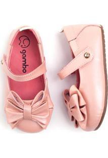 0e7e3d7541 Sapatilha Bebê Gambo Laço Glitter Blossom - Feminino-Rosa ir para a loja