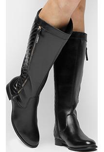 Bota Montaria Couro Shoestock Matelassê Feminina - Feminino