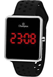 Relógio Champion Digital Led Feminino - Ch40081T - Feminino-Preto