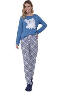 Pijama Feminino Longo Família Coala Luna Cuore