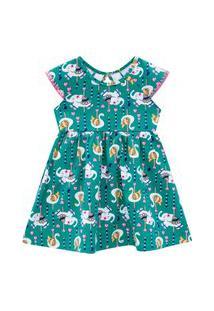 Vestido Infantil Kyly Verde