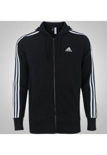 Jaqueta De Moletom Com Capuz Adidas Ess 3S Fz Hood - Masculina - Preto