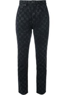 5d0701598409c Marc Jacobs Calça Jeans Xadrez  Flood Stovepipe  - Preto