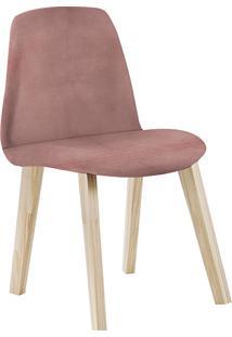 Cadeira Pinha F90 Veludo – Daf Mobiliário - Rosa