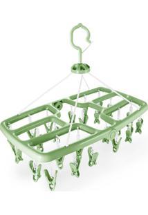 Mini Varal Jacki Design Com 24 Prendedores Ayj17257-Ve Verde Unico