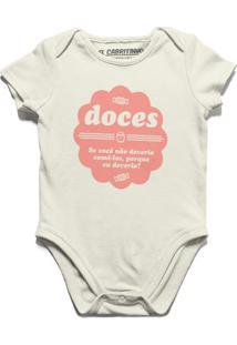 Doce Não - Body Infantil